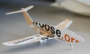 飛行機のデザインの名刺
