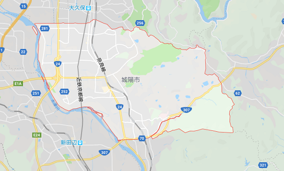 京都府城陽市の地図
