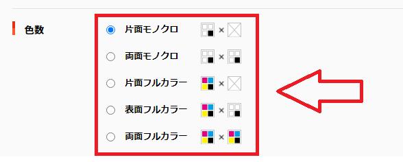 東京カラー印刷通販の名刺の種類
