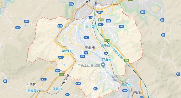 長野県千曲市の地図