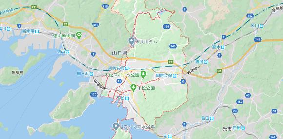 山口県下松市の地図