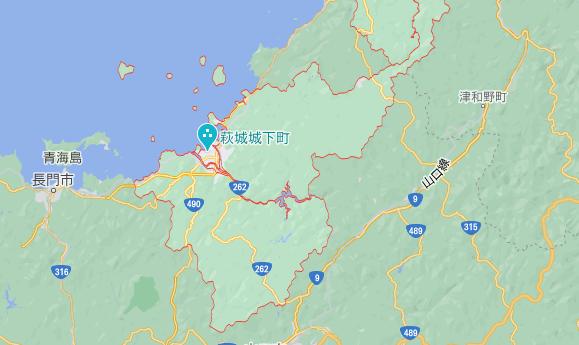 山口県萩市の地図