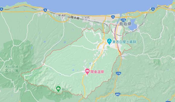 鳥取県倉吉市の地図