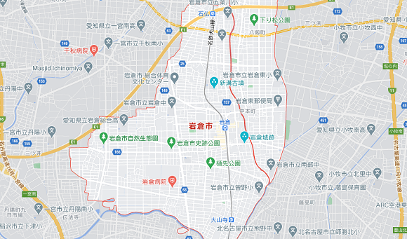 愛知県岩倉市の地図