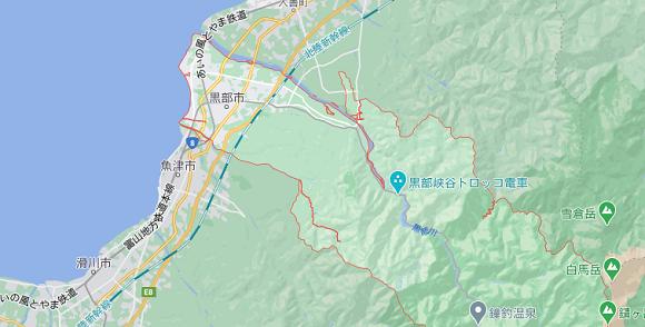 富山県黒部市の地図
