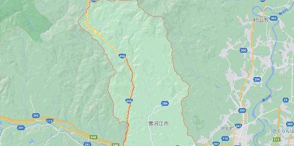山形県寒河江市の地図