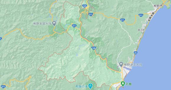 和歌山県新宮市の地図