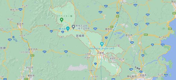 宮城県大崎市の地図